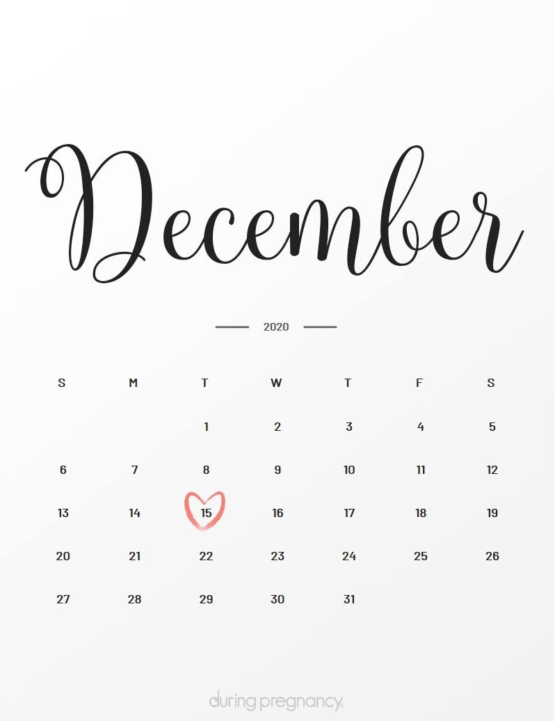 Due Date: December 15, 2020 | During Pregnancy