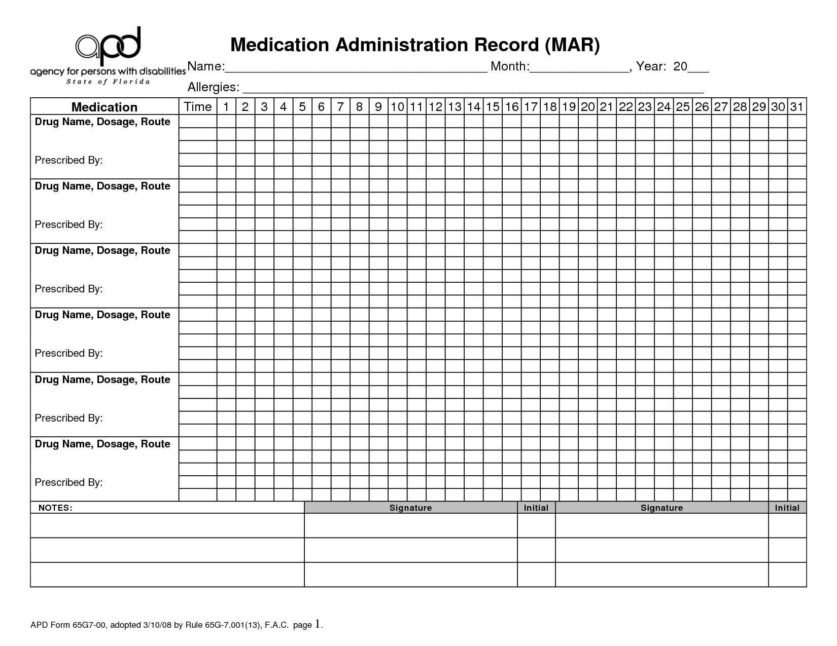 Effective 28 Day Medication Calender In 2020 | Medication