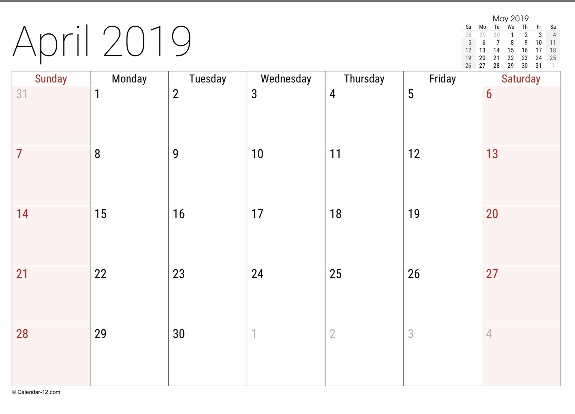 Effective 8 1/2 X 11 Printable May Calendar In 2020 | Free