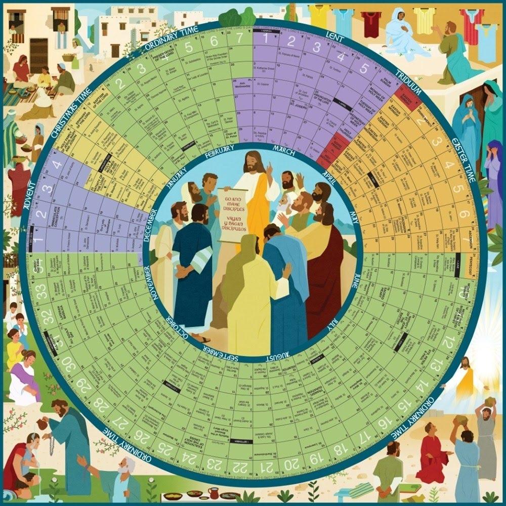 Episcopal Church Calendar And Colors - Calvarych-Sc