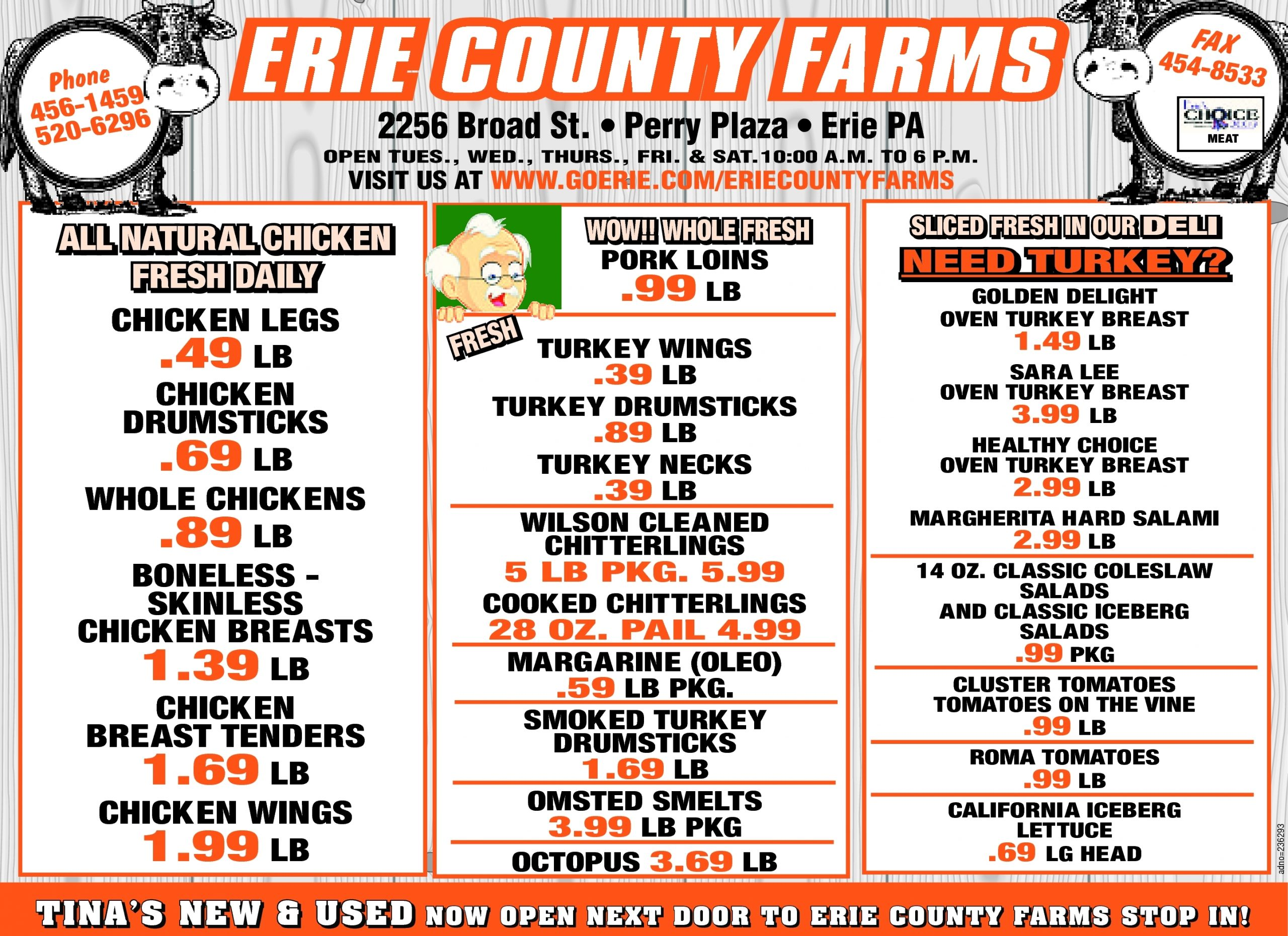 Erie County Farms Weekly Ad December 26, 2016 - January 1, 2017