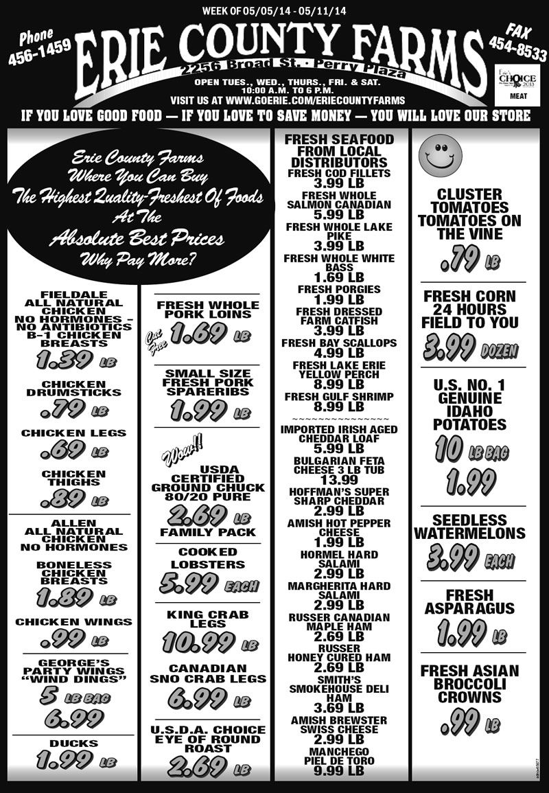 Erie County Farms Weekly Ad | Erie County, Meal Deal, Ads