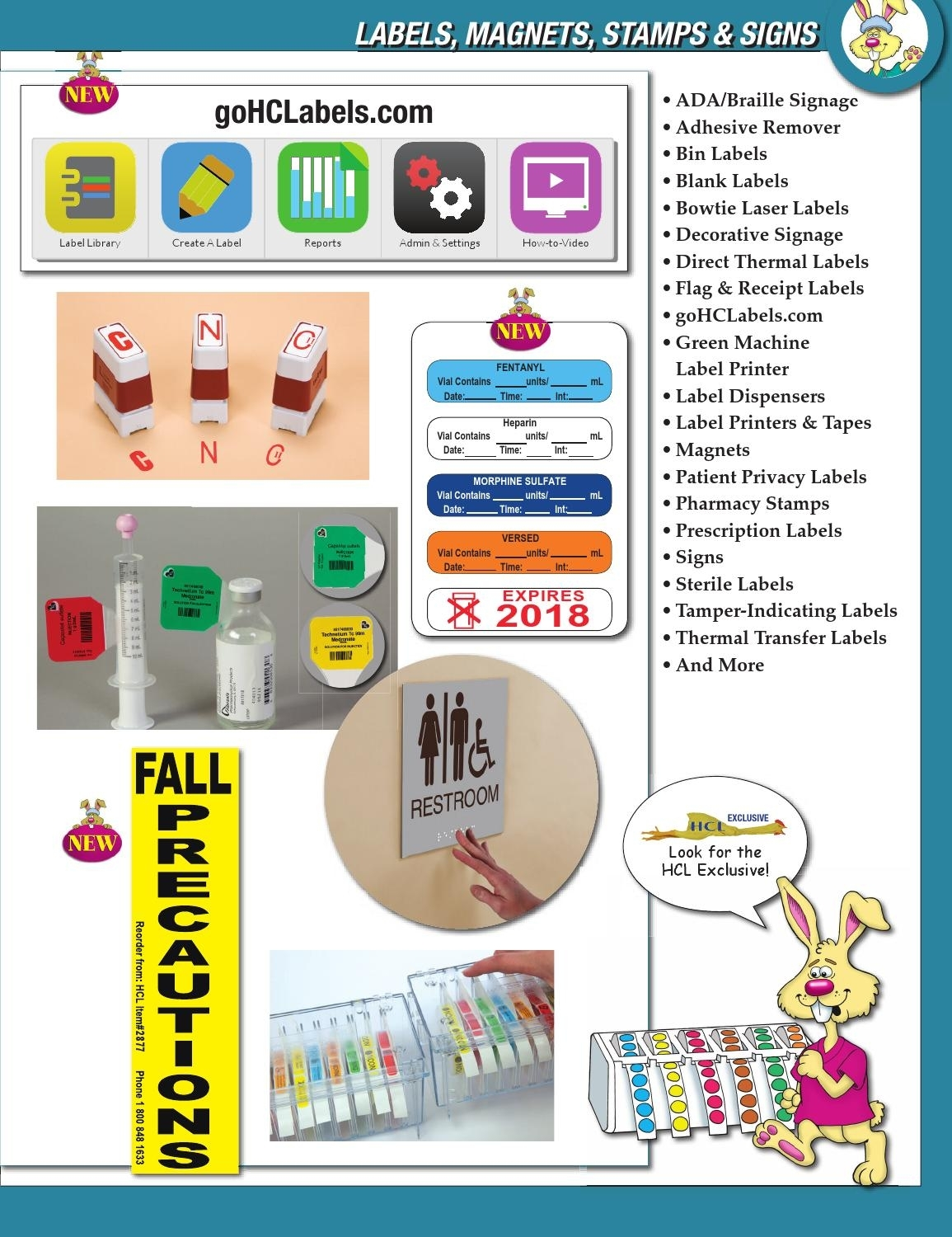 Ether Bunny - Labels, Magnets, Stamps & Signs By Health Care