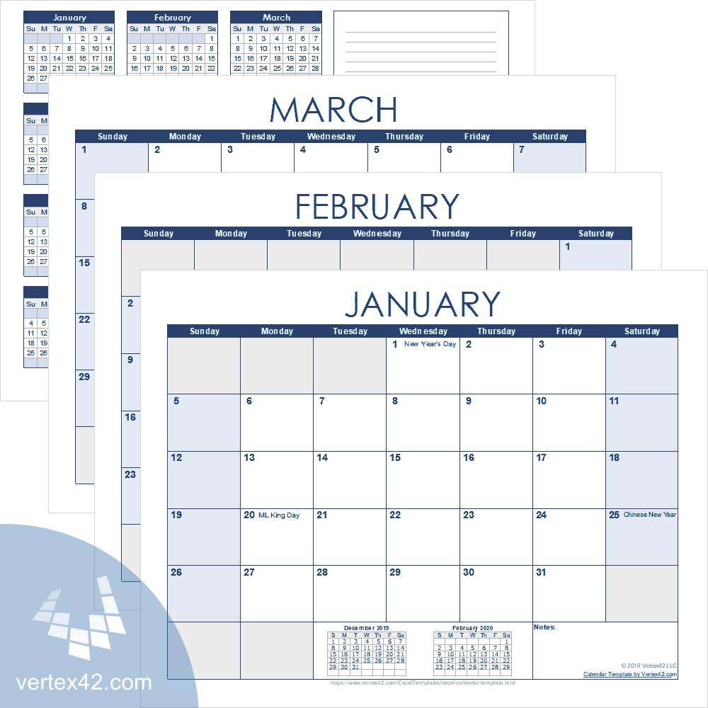 Excel Calendar Template For 2021 And Beyond