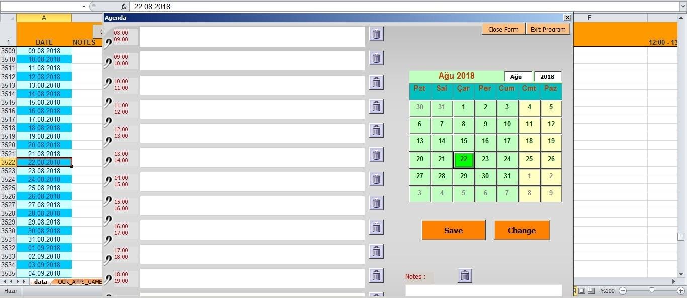 Excel Vba Calendar | Calendar For Planning