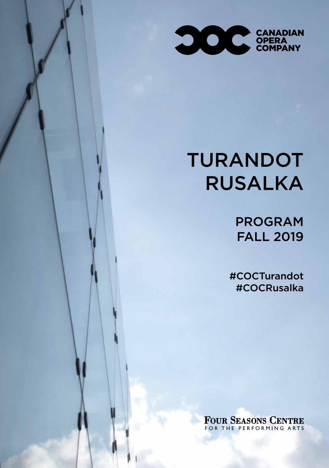 Fall 2019 House Program By Canadian Opera Company - Issuu