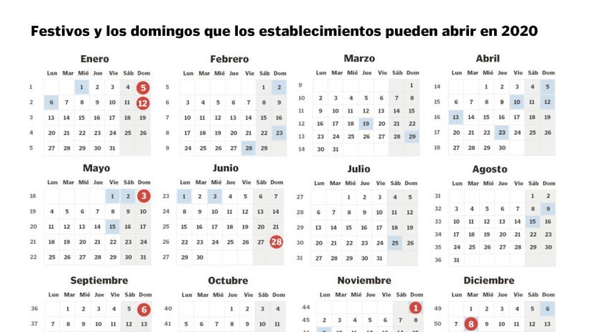 Festivos Y Domingos De Apertura De Comercios 2020 Aragón