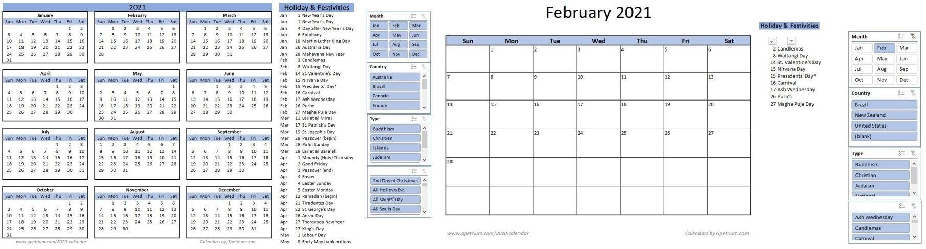 Free 2021 Calendar Template In Excel – Gpetrium