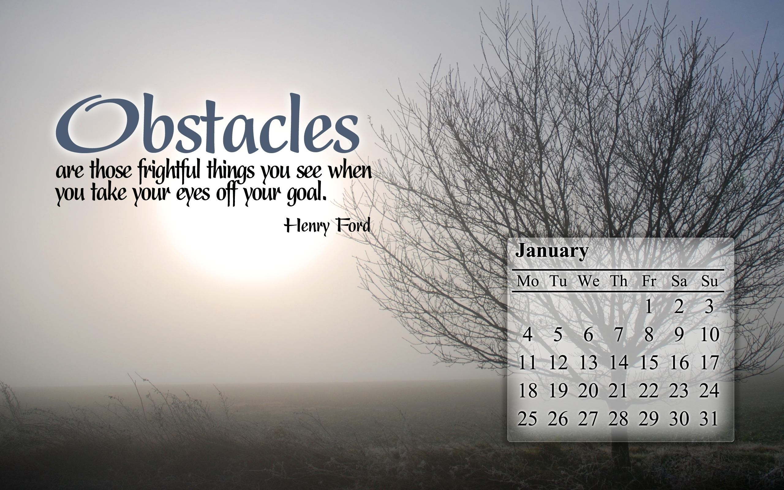 Free Christian Desktop Calendar Wallpaper - Motivational