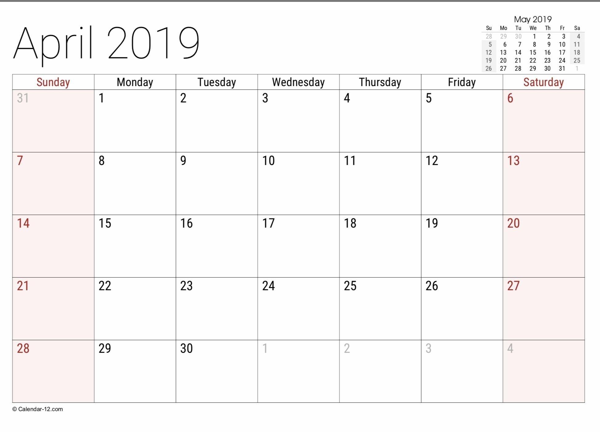 Free Free 8 1/2 By 11 Blank Calendar In 2020 | Free