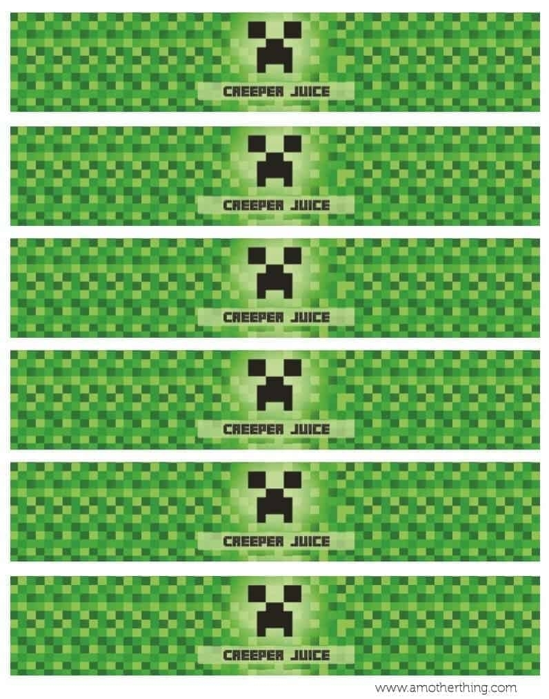 Free Minecraft Printable Birthday Bundle | It'S A Mother Thing
