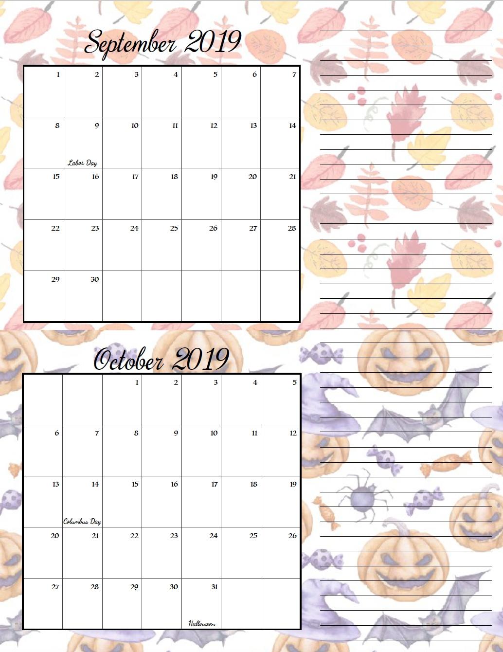 Free Printable 2019 Bimonthly Calendars: 2 Designs | Free
