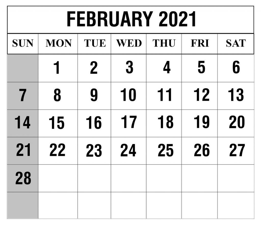 Free Printable 2021 February March Calendar | Calendar