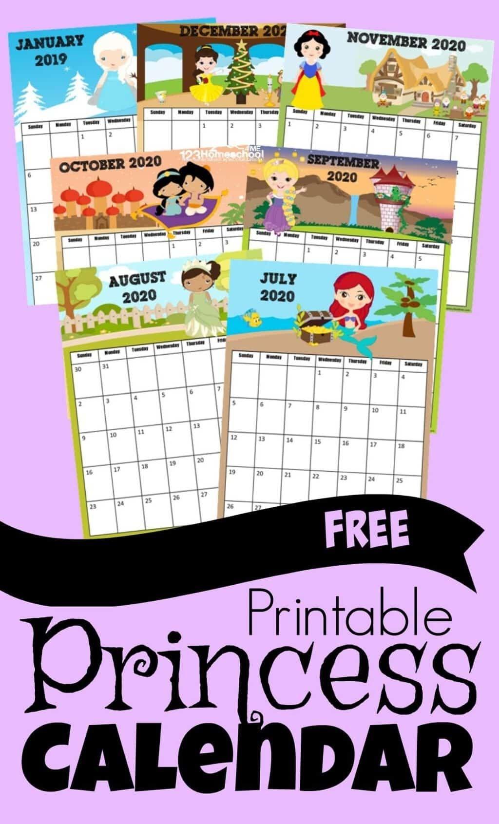 Free Printable Free Printable Disney Calendar 2021   Kids