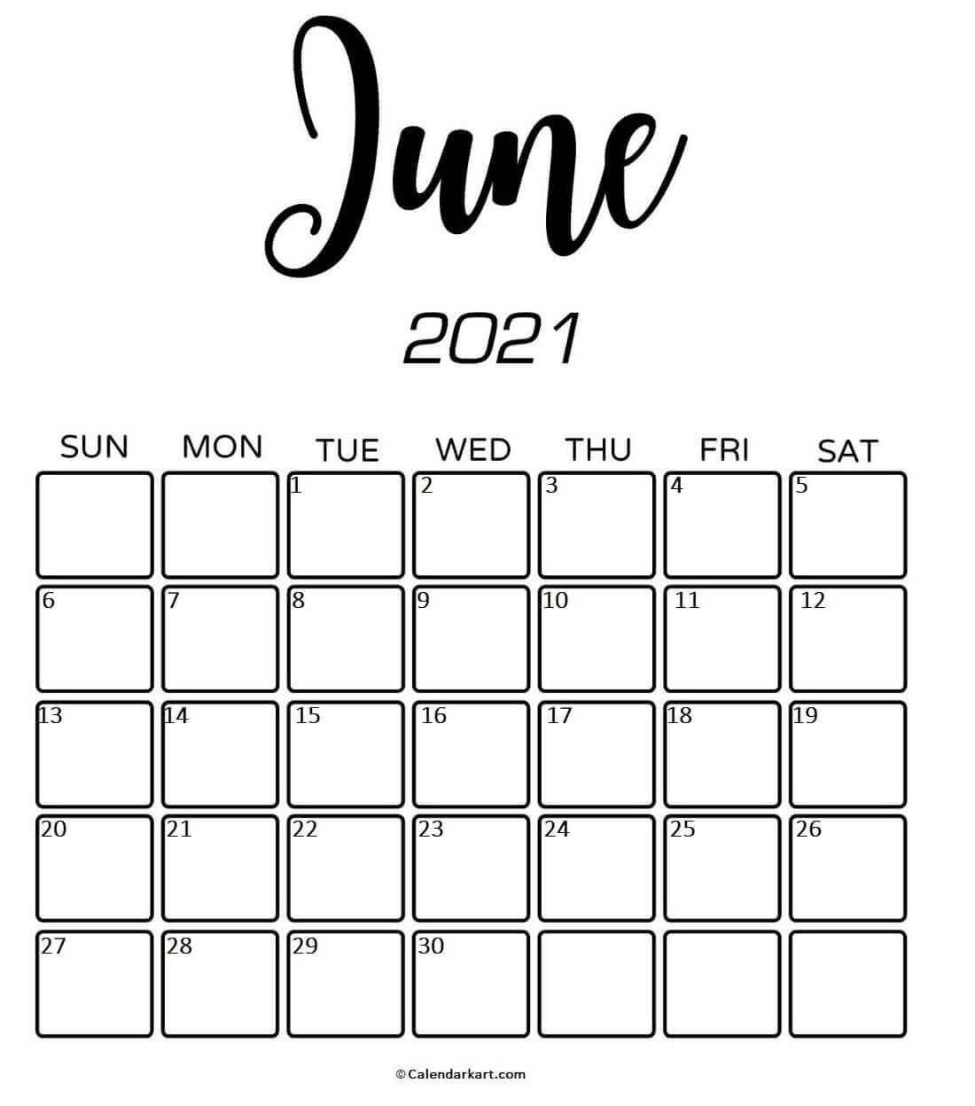 Free Printable June 2021 Calendar: Cute & Elegant Designs
