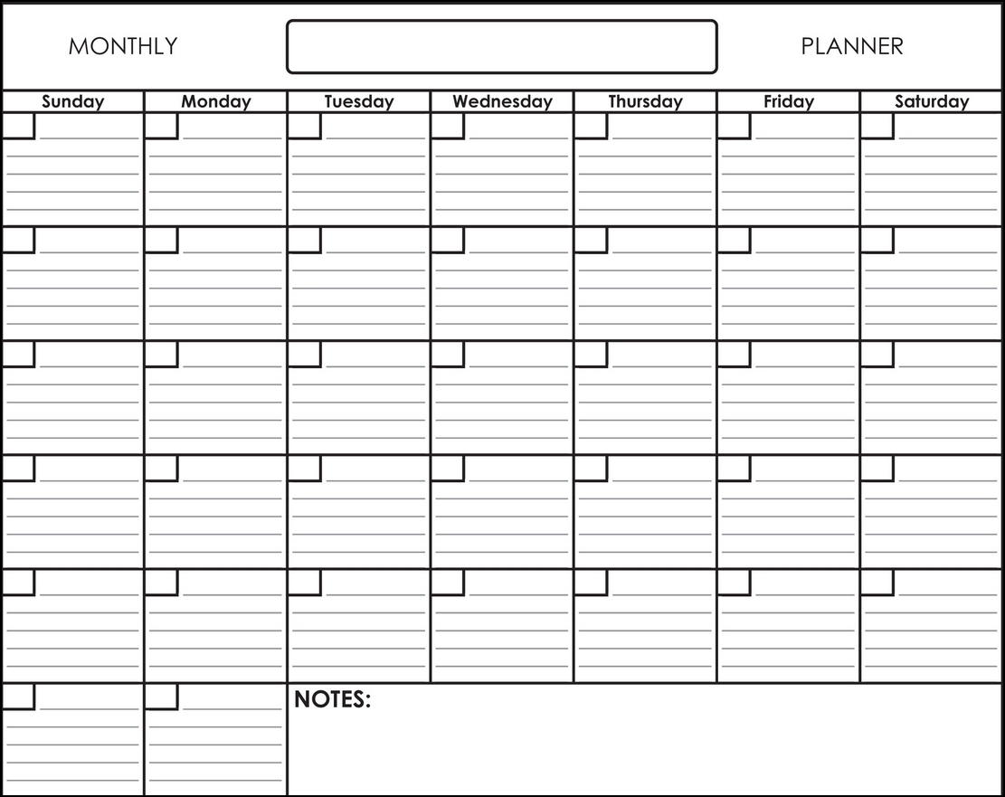Free Printable Monthly Calendar Pages With Lines | Calendar