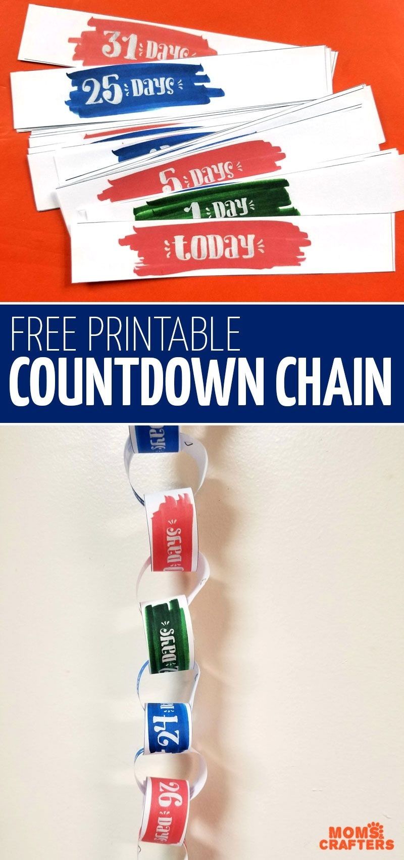 Free Printable Vacation Countdown Calendar - Paper Chain