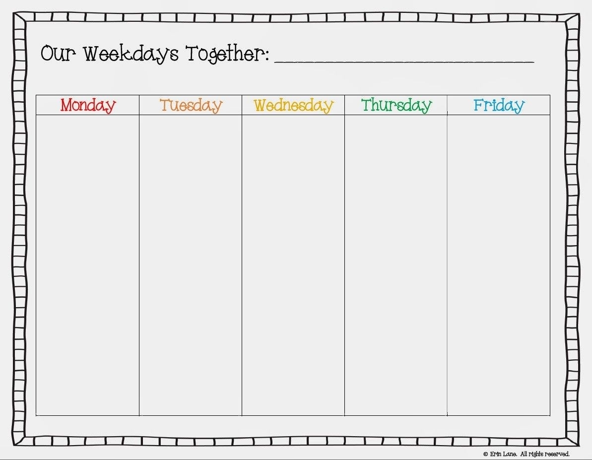 Free Printable Weekday Only Calendar - Google Search | Free