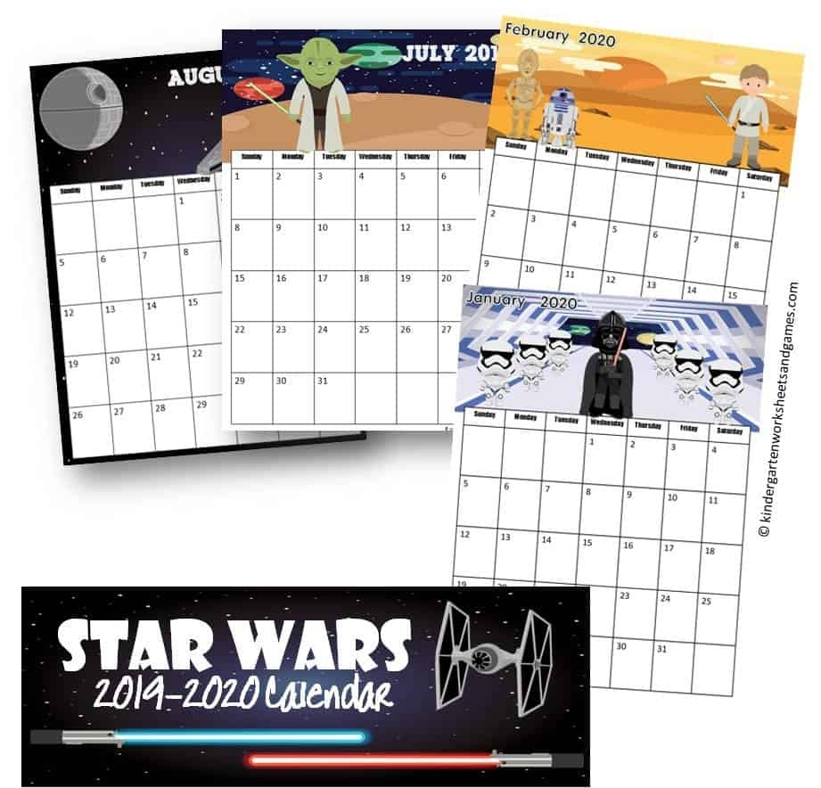Free Star Wars Calendar 2020 Printable