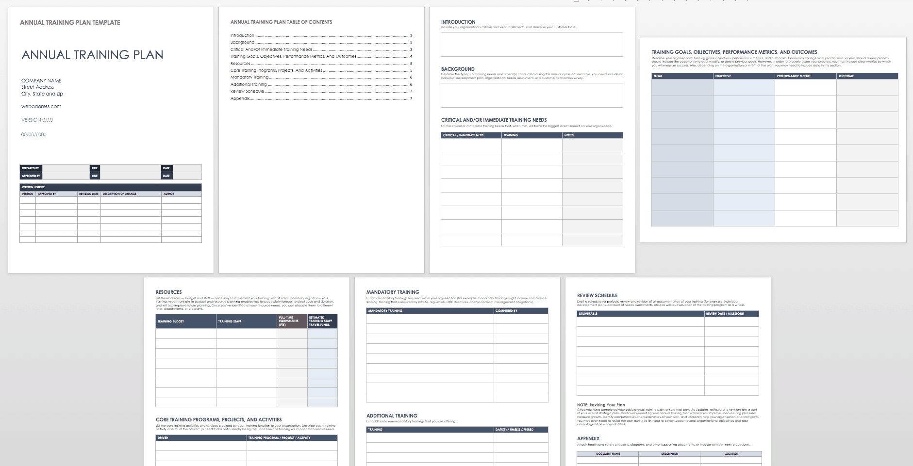 Free Training Plan Templates For Business Use | Smartsheet