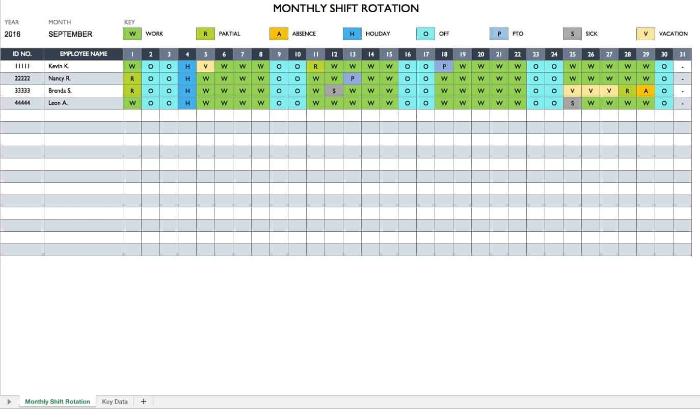 Free Work Schedule Templates For Word And Excel  Smartsheet