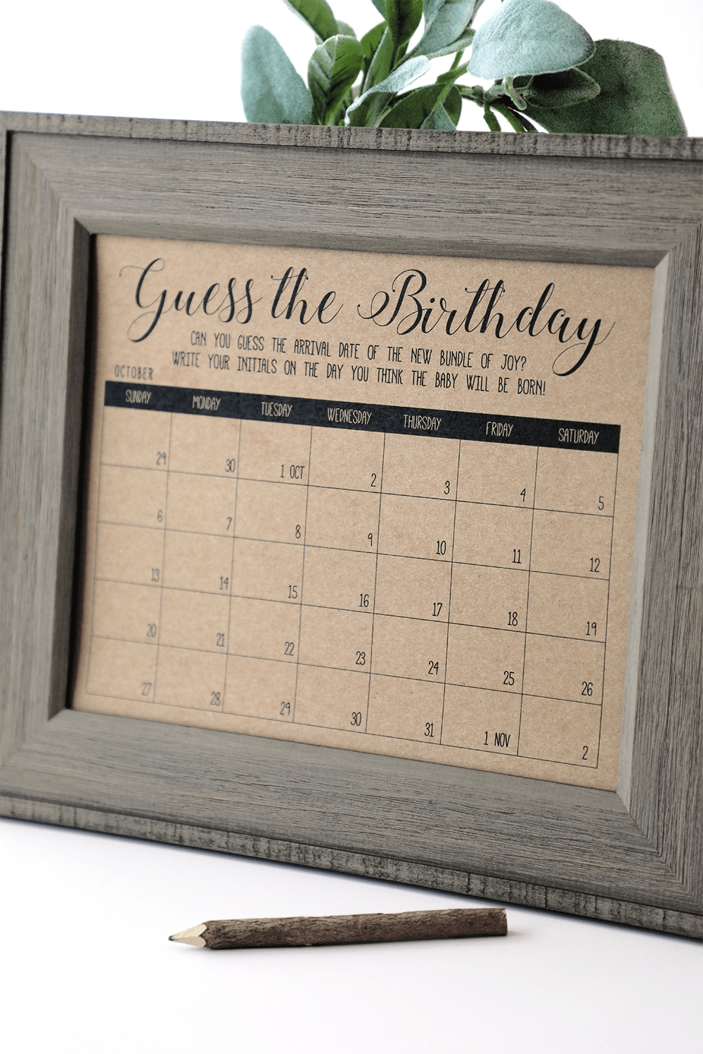Guess The Birthday Baby Shower Game  Guess The Birth Date