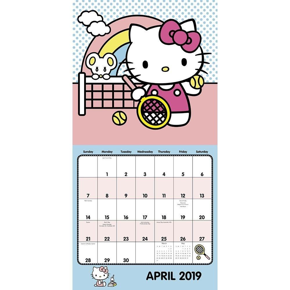 Hello Kitty Wall Calendar (2019) Calendar – July 1, 2018