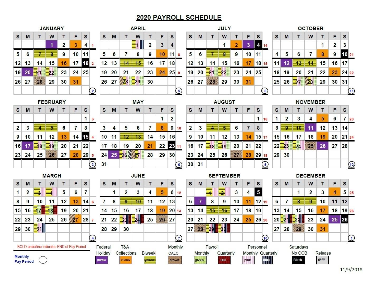 Hiway Federal Credit Union State Payroll Calendar | Payroll
