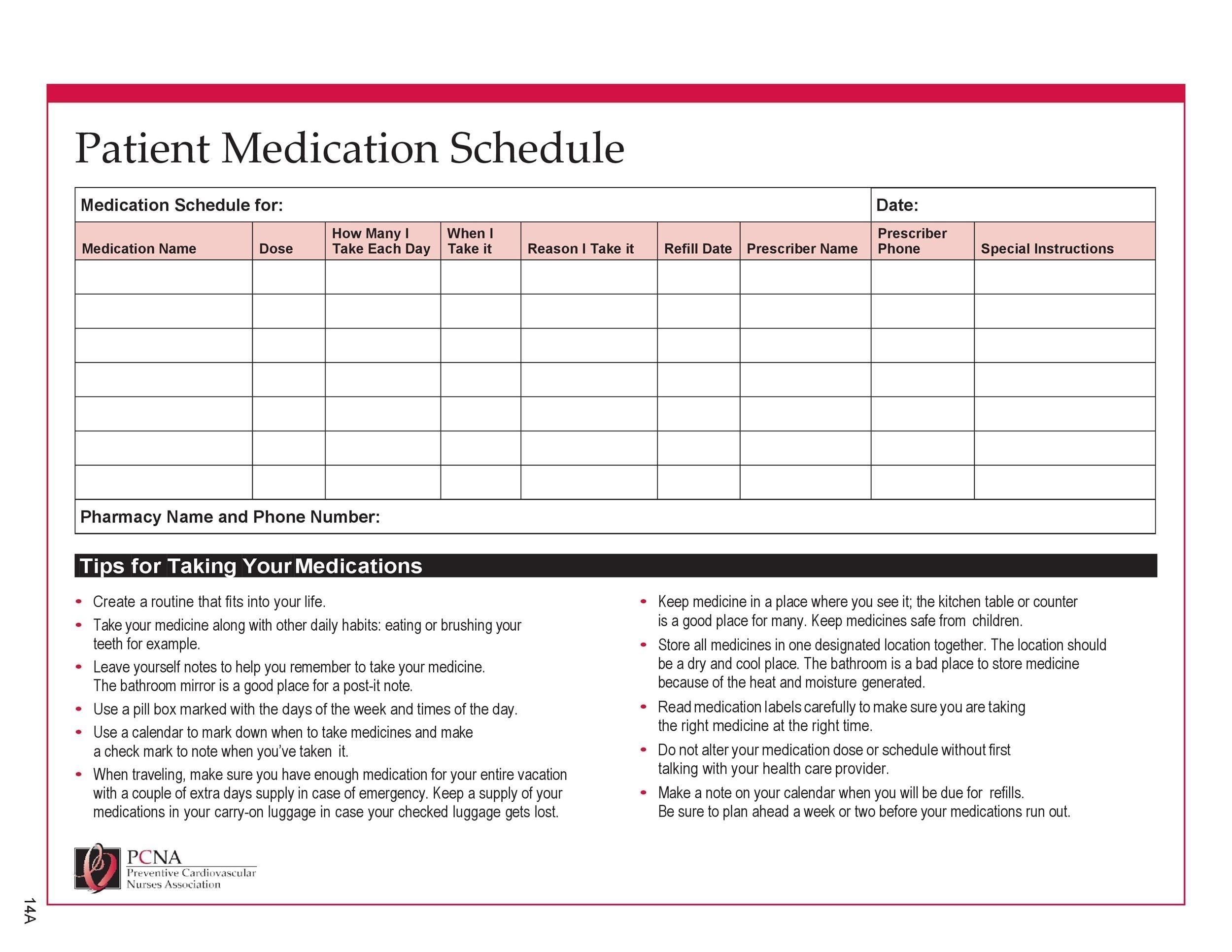 How To 28 Day Calendar For Multi Dose Medications In 2020