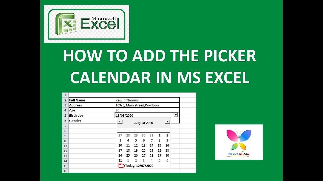 How To Add Date Picker Calendar /Drop Down Calendar To Ms