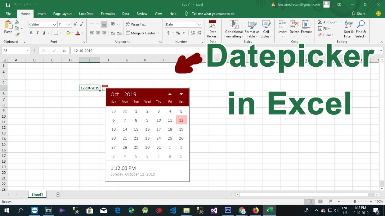 How To Add Datepicker In Excel 2016 - Datepicker Add-Ins