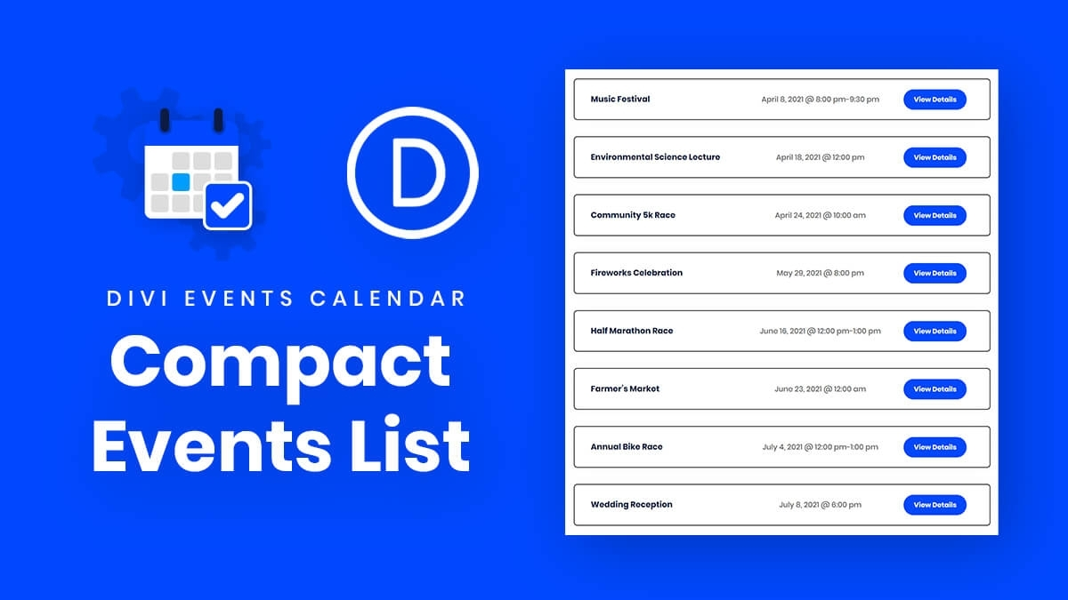 How To Change The Divi Events Calendar Events Feed To