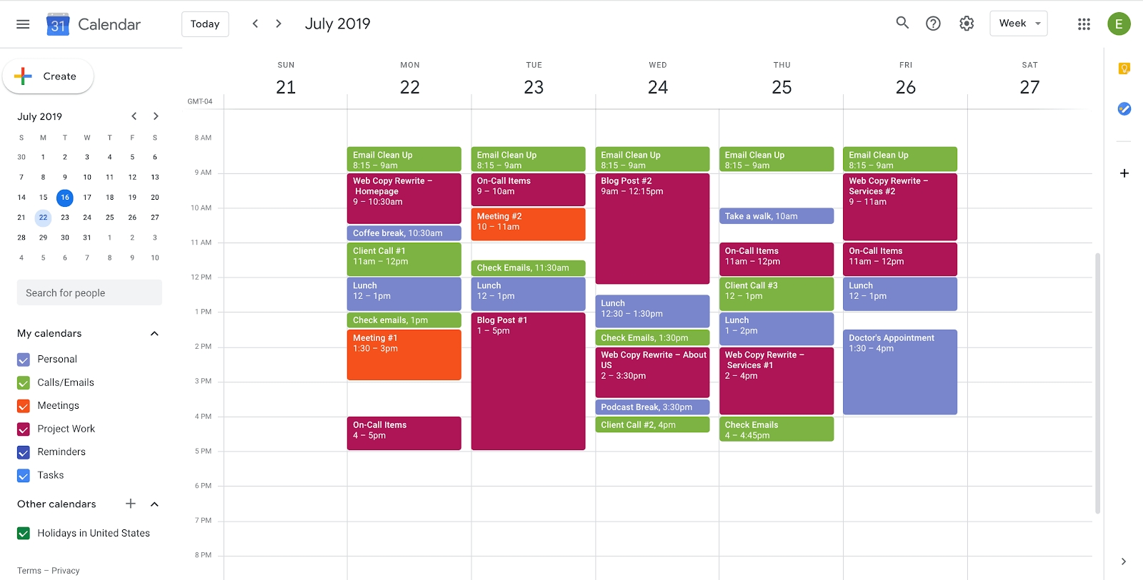 How To Use Google Calendar To Plan Your Workday | Copper