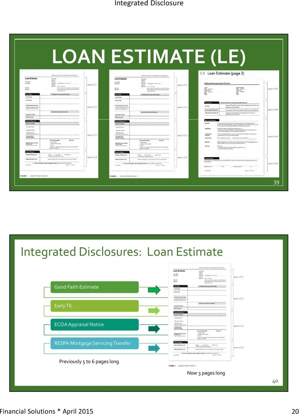 Integrated Mortgage Disclosures - Pdf Free Download