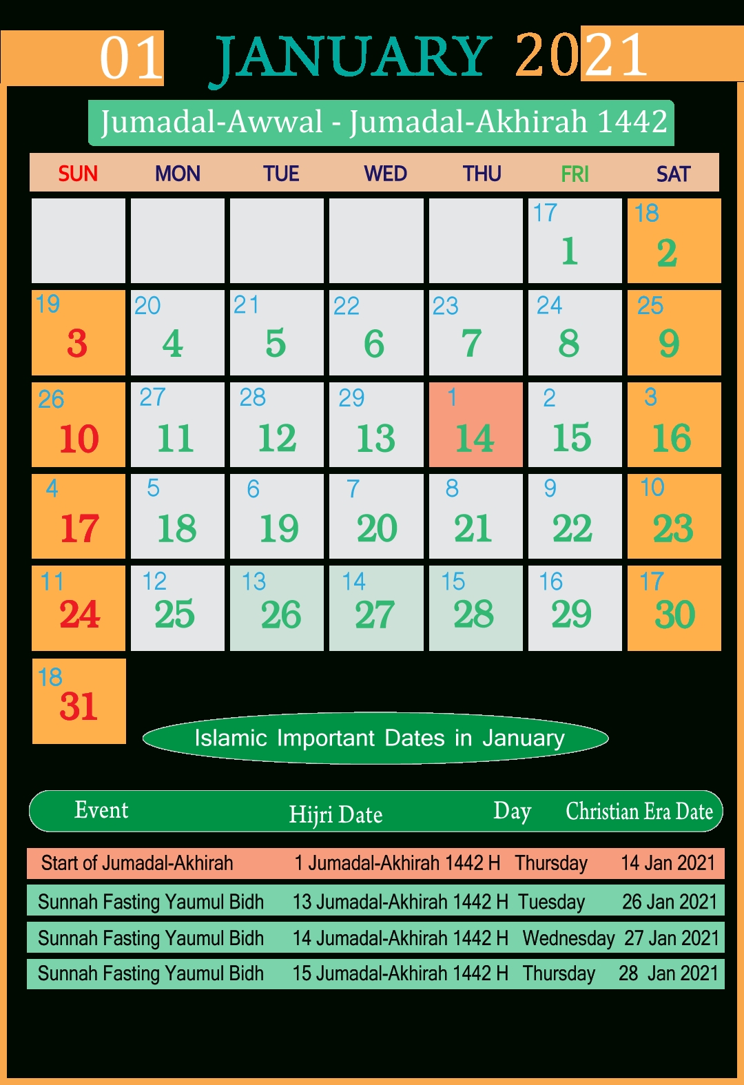 Islamic Calendar 2021 Pdf Free | Seg
