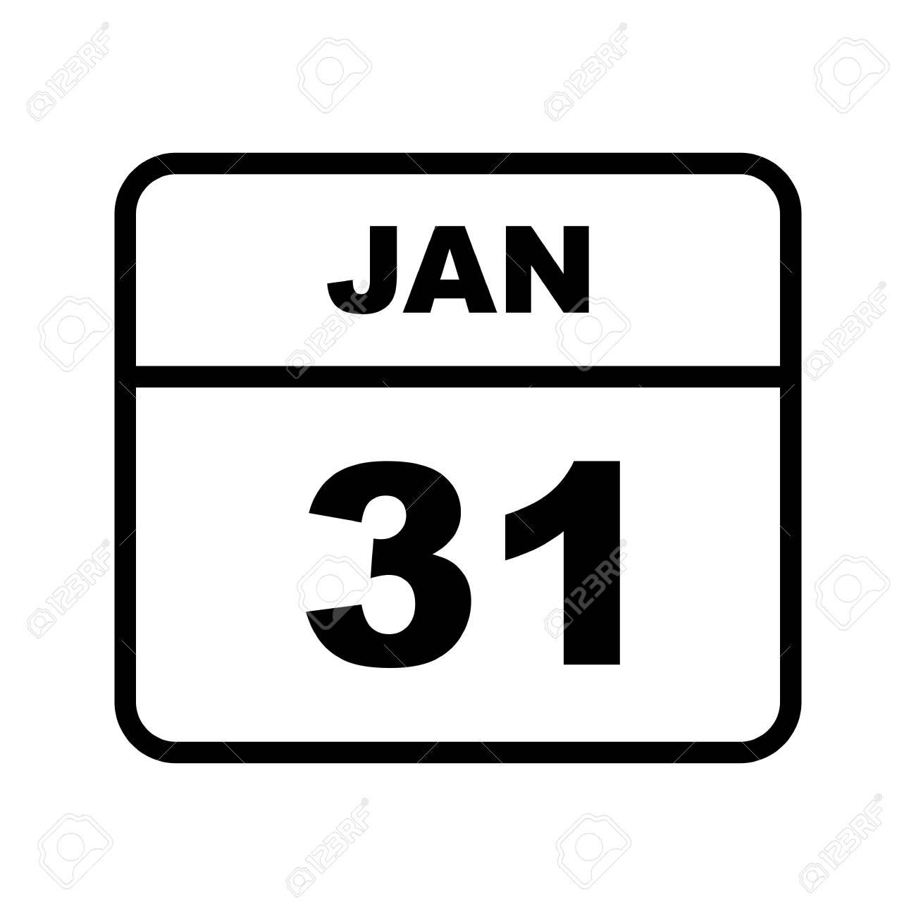 January 31St Date On A Single Day Calendar
