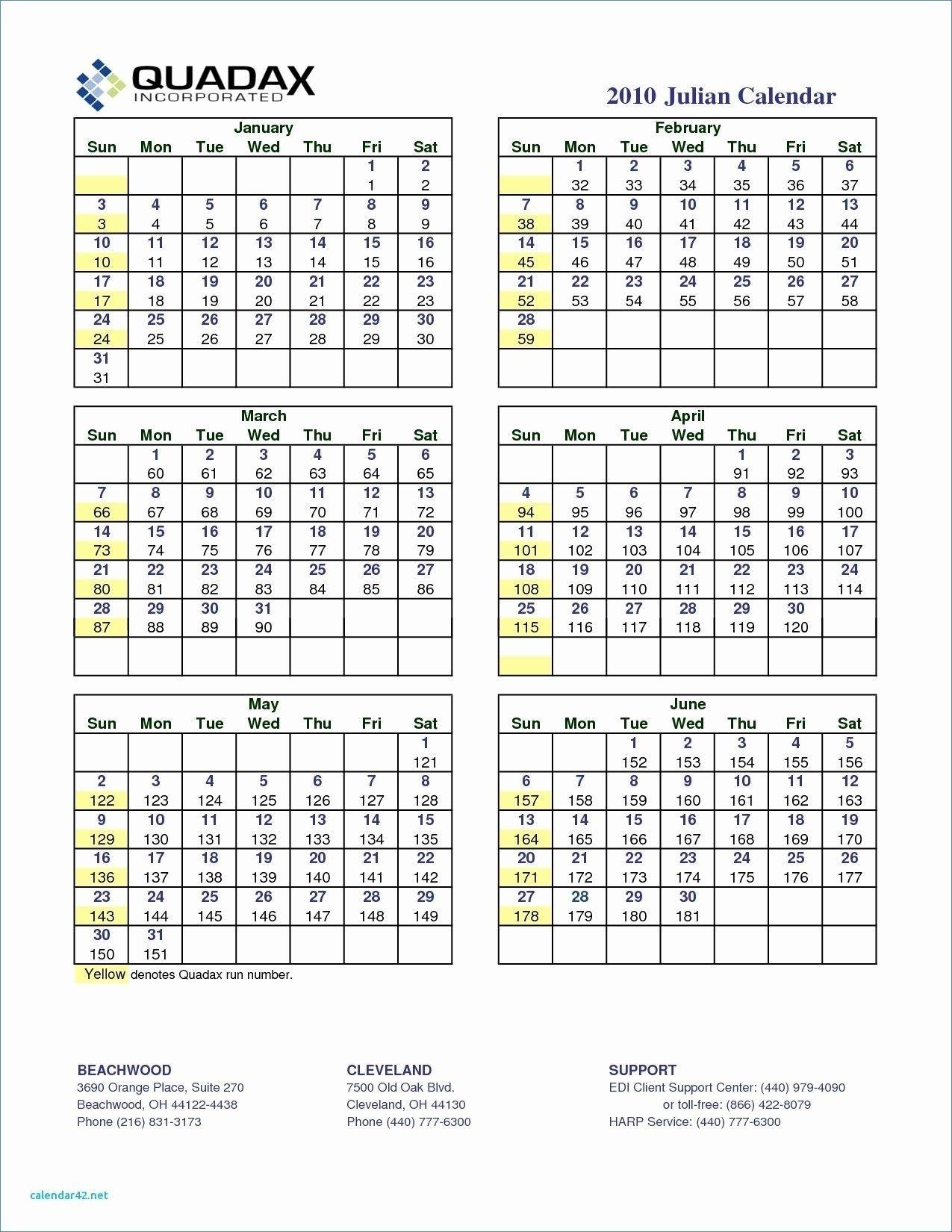 Julian Date August 2019 Calendar | Calendar Format Example