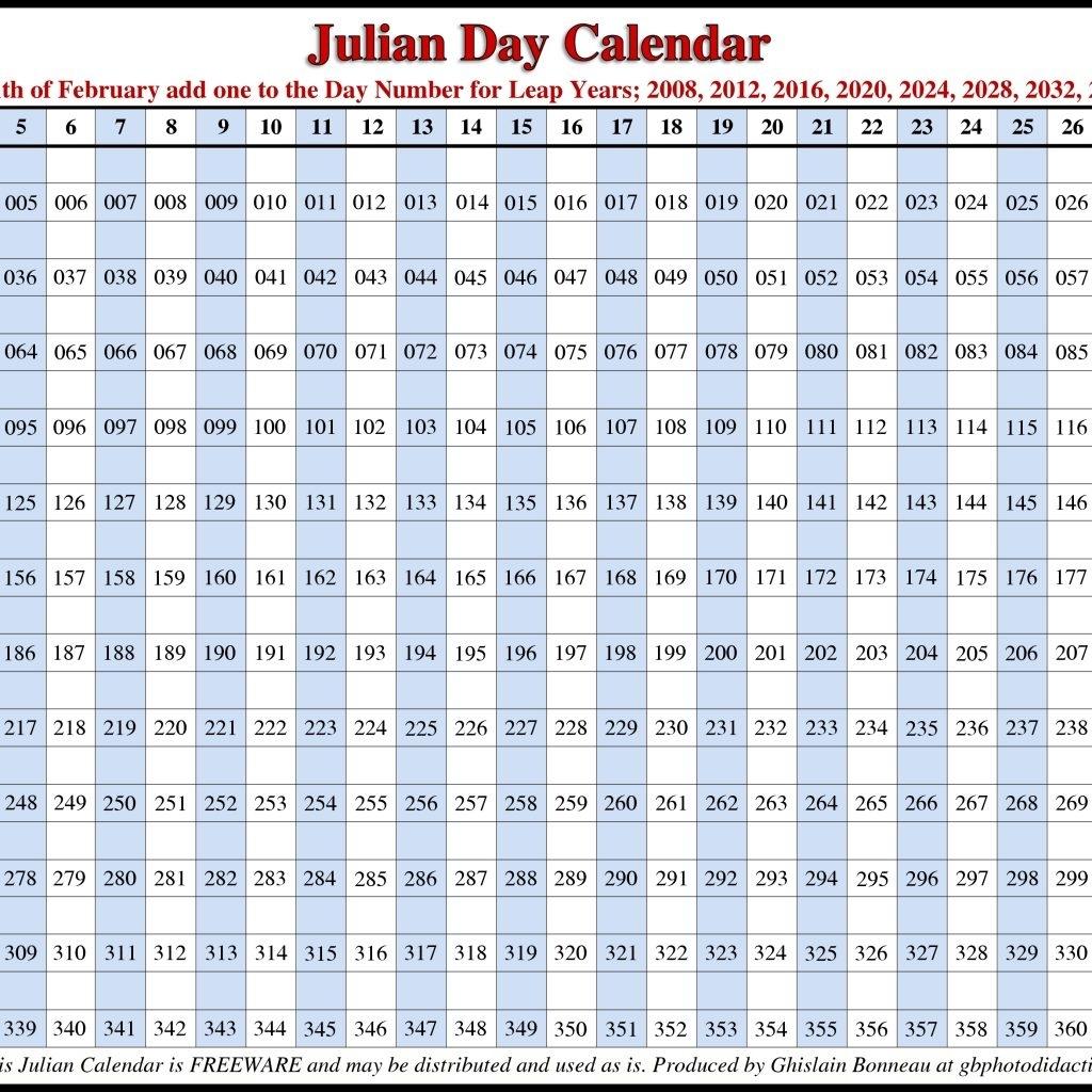 Julian Date Calendar Perpetual | Calendar For Planning