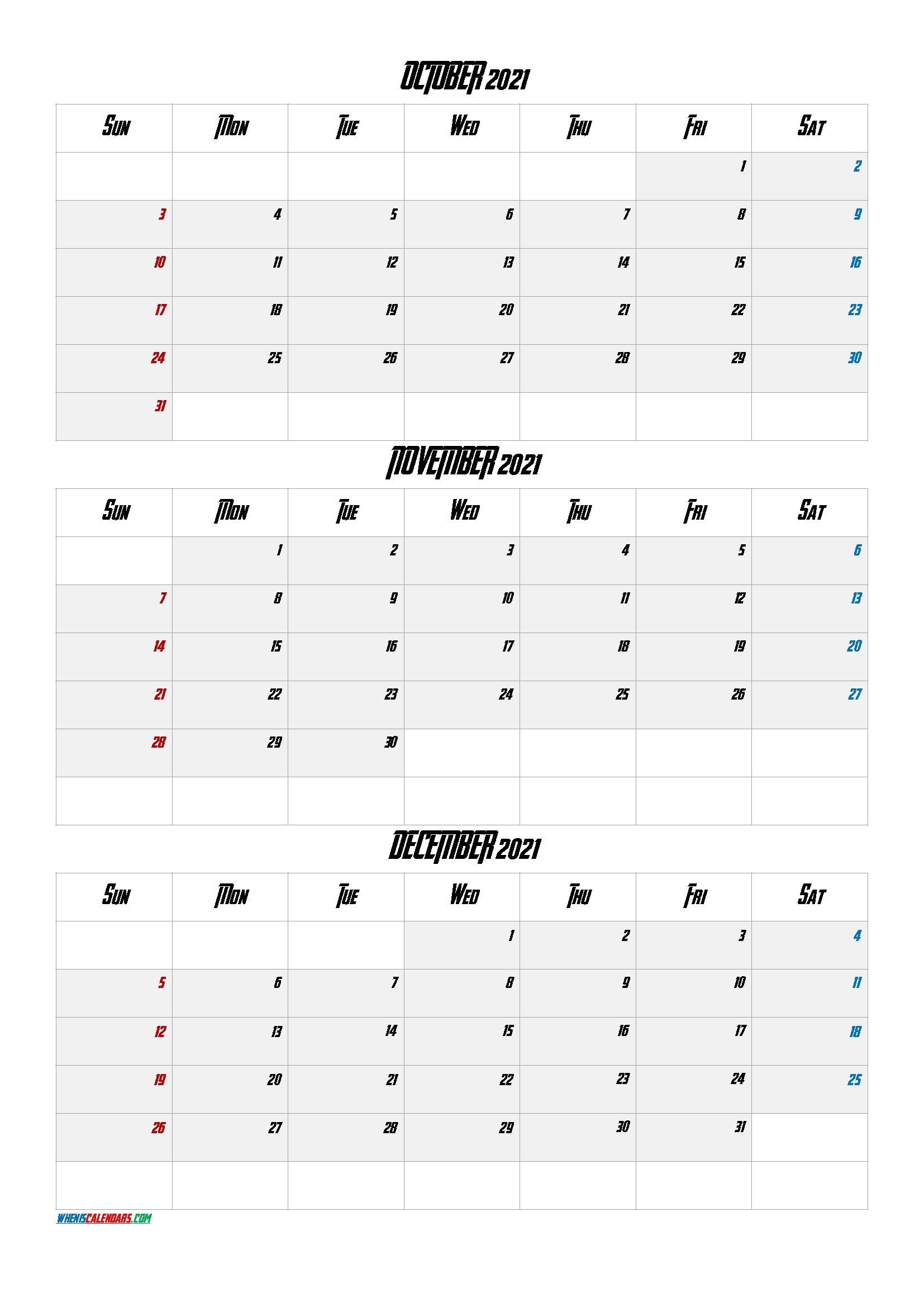 July August September 2021 Calendar Printable Free - Free