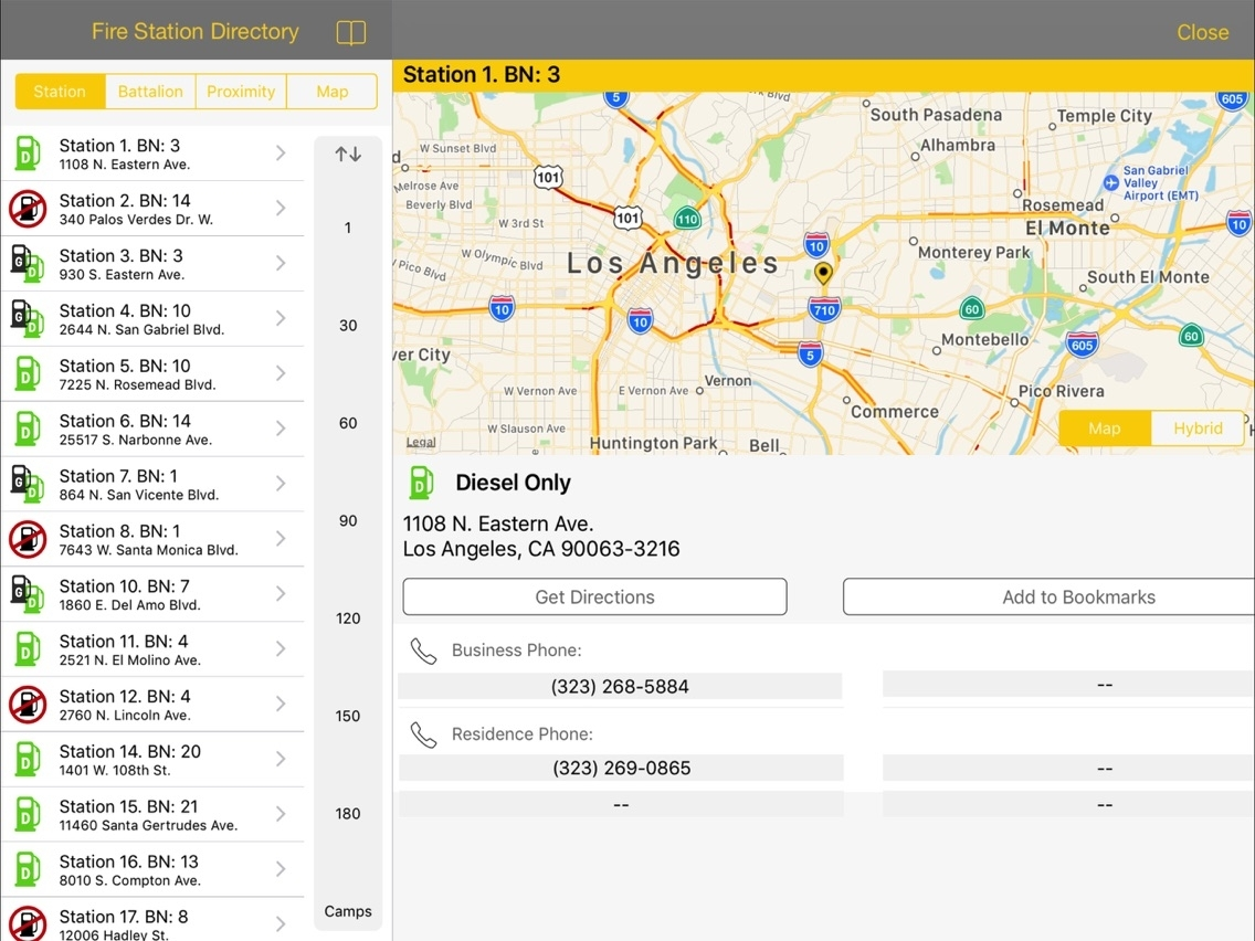 Lacofd Fire Station Directory App For Iphone - Free Download