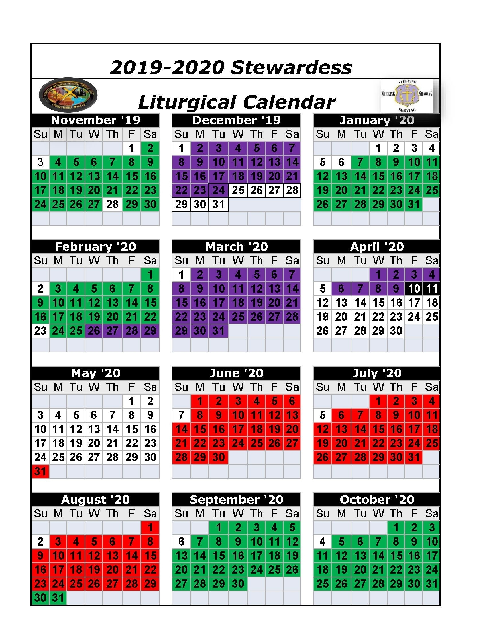 Liturgical Year Worksheet | Printable Worksheets And