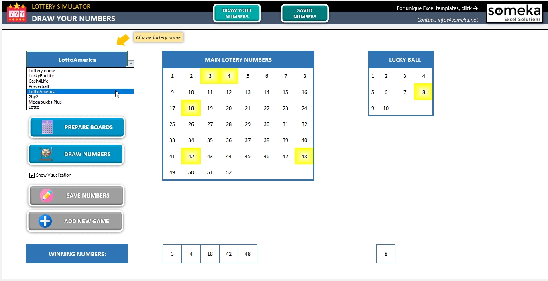 Lottery Simulator | Free Lottery Simulator Excel Template!