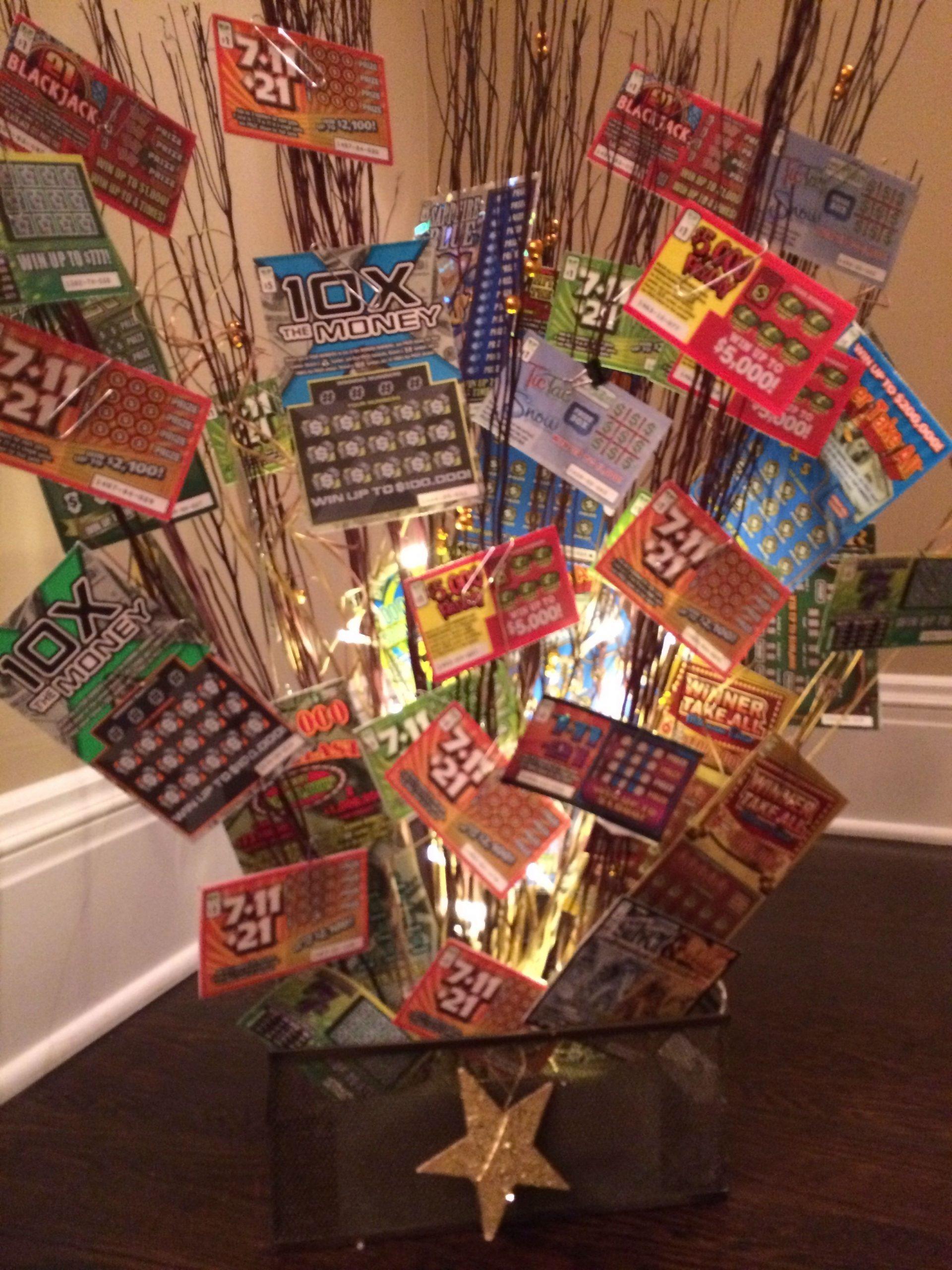 Lottery Ticket Basket   Fundraiser Baskets, Auction Baskets
