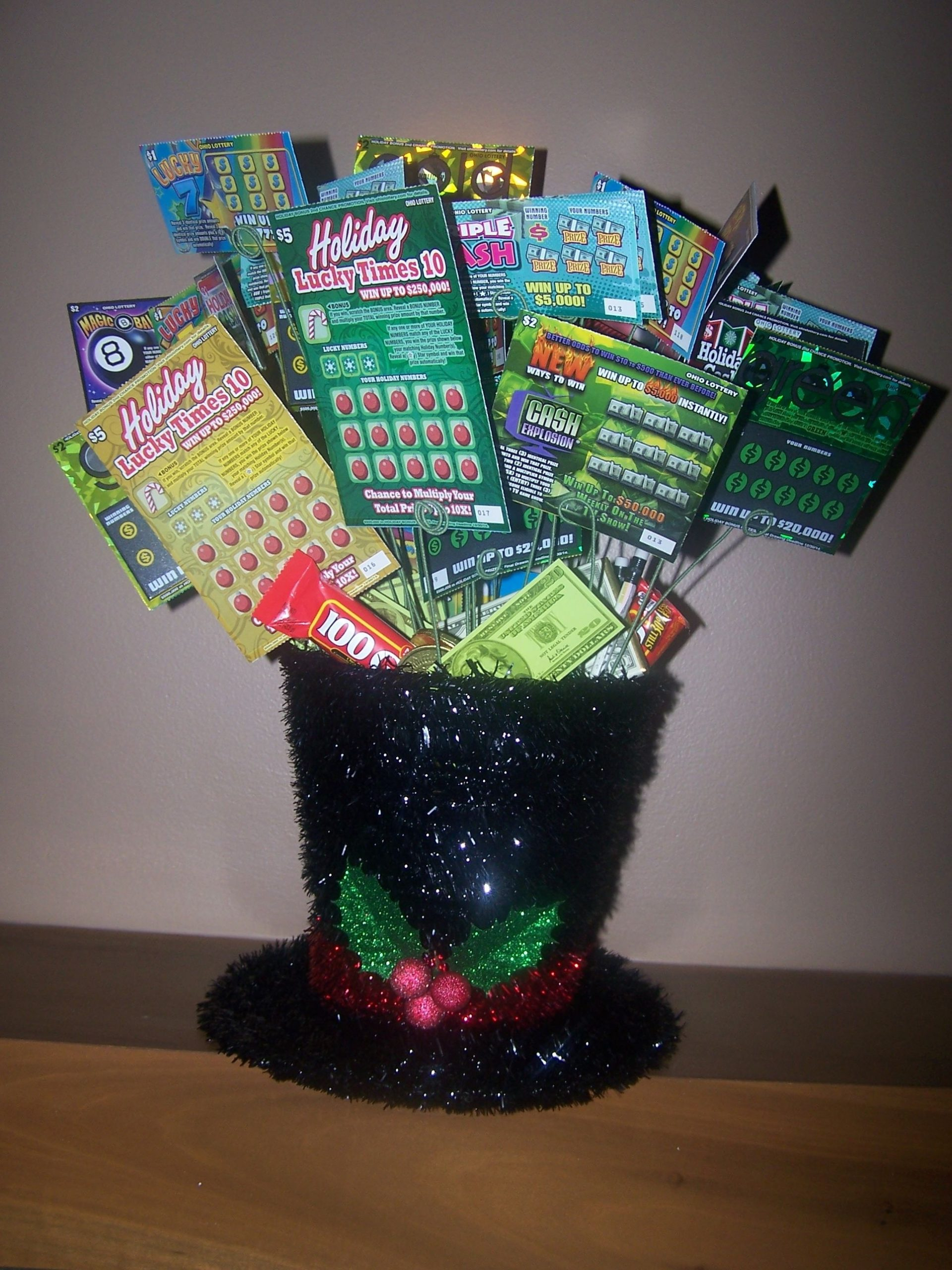 Lottery Ticket Basket I Made This For A Fundraiser Raffle
