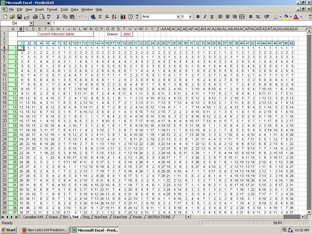 Lotto Pick 3 Prediction Method - Excel Program File