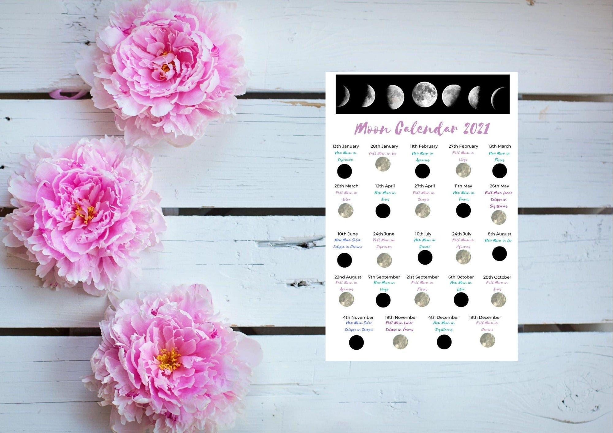Lunar Calendar 2021 / Astrology Calendar 2021 / Moon
