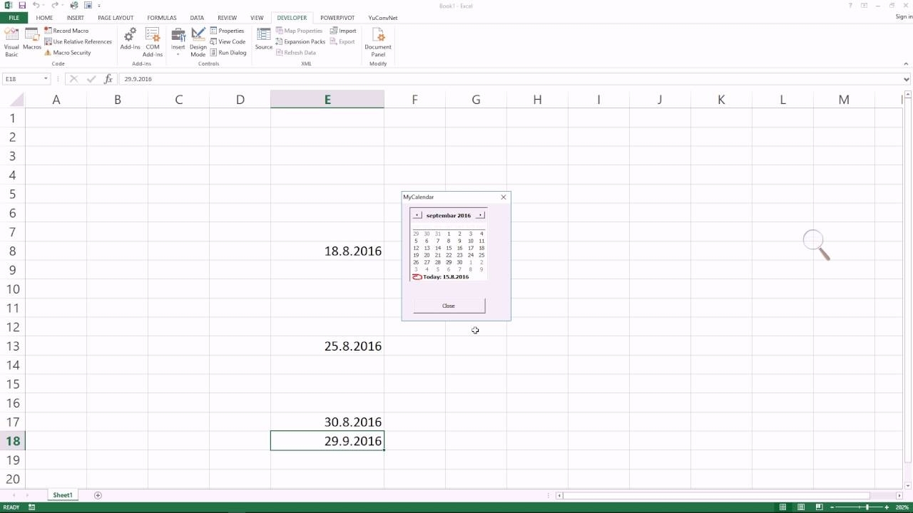 Make Excel Pop-Up Calendar To Enable Date Pick In Any Cell #Itfriend  #Exceltricks