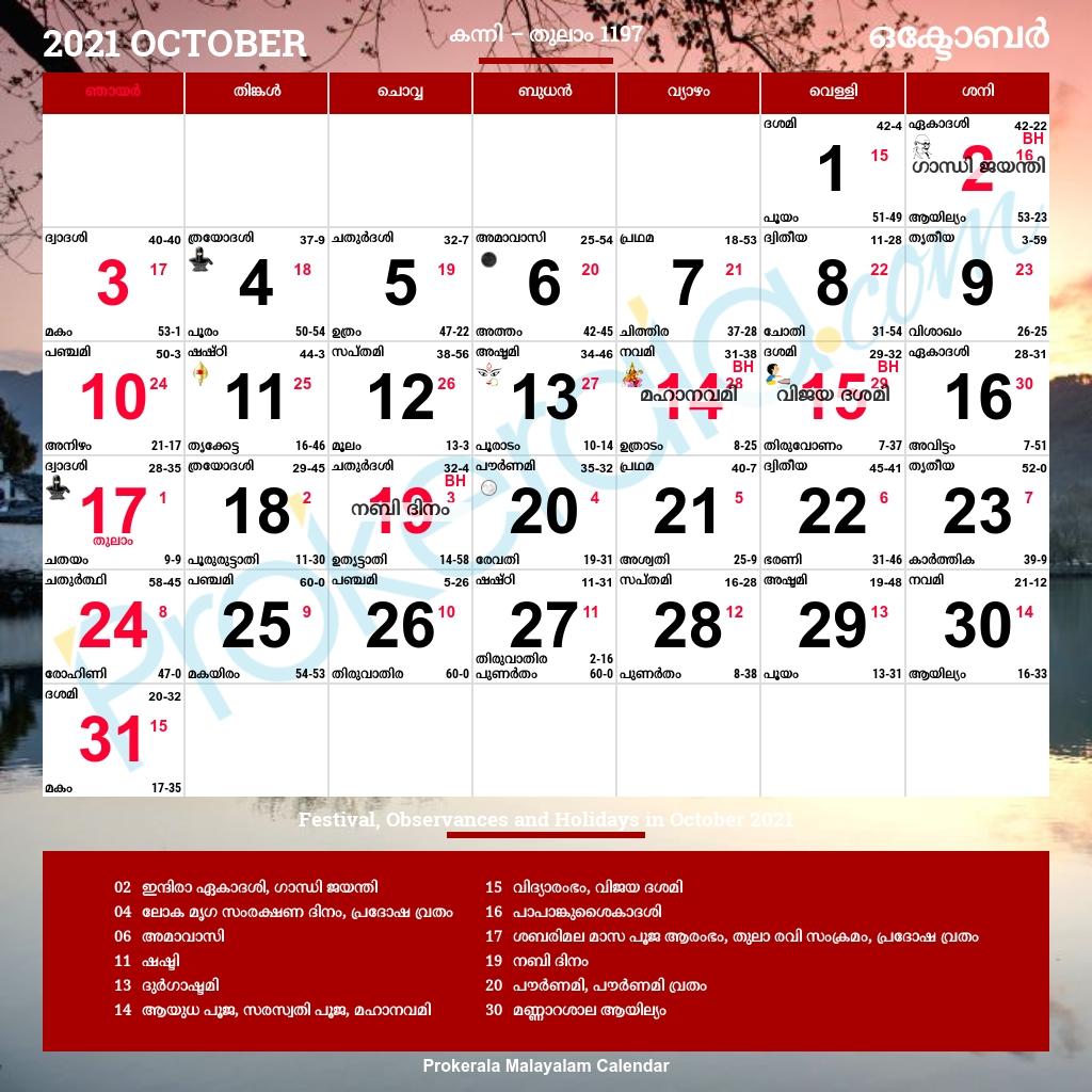 Malayalam Calendar 2021 | Malayalam Calendar, Daily Calendar
