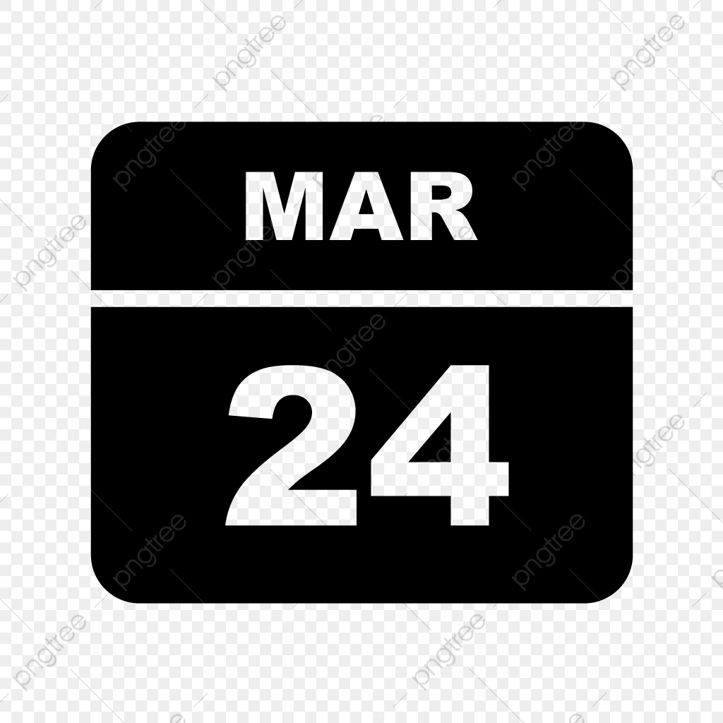 March 24Th Date On A Single Day Calendar, Calendar Icons