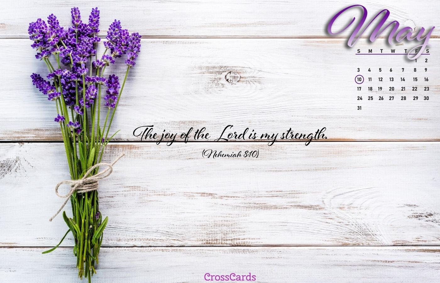 May 2020 - The Joy Of The Lord Desktop Calendar- Free May